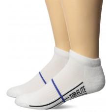 Top Flite Half Cushion Low Cut Socks, White, (L) W 9-12 / M 9-13, 2 Pair