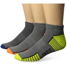 Top Flite Low Cut Socks, Dk Grey, (L) W 9-12 / M 9-13, 3 Pair