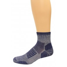 Wise Blend Men's Everyday Quarter Socks, 1 Pair, Denim, Medium, Shoe Size M 9-13