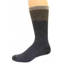 Wise Blend Men's Block Crew Socks, 1 Pair, Denim, Medium, Shoe Size M 9-13