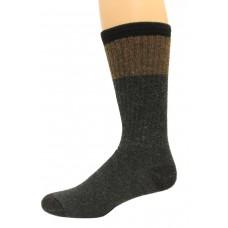 Wise Blend Men's Block Crew Socks, 1 Pair, Charcoal, Medium, Shoe Size M 9-13