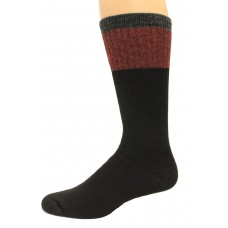 Wise Blend Men's Block Crew Socks, 1 Pair, Black, Medium, Shoe Size M 9-13