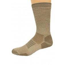 Wise Blend Men's Everyday Crew Socks, 1 Pair, Khaki, Medium, Shoe Size M 9-13