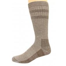 Wise Blend Men's Double Stripe Crew Socks, 1 Pair, Brown, Medium, Shoe Size M 9-13