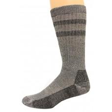 Wise Blend Men's Double Stripe Crew Socks, 1 Pair, Blk/Burg, Medium, Shoe Size M 9-13