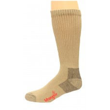 Riggs by Wrangler Cotton Non-Binding Boot Sock 2 Pack, Khaki, M 8.5-10.5