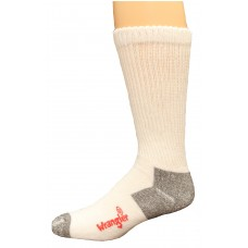Riggs by Wrangler Cotton Non-Binding Boot Sock 2 Pack, White, M 8.5-10.5
