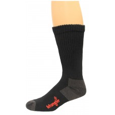 Riggs by Wrangler Cotton Non-Binding Boot Sock 2 Pack, Black, M 8.5-10.5