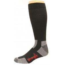 Riggs by Wrangler Steel Toe Boot Sock 2 Pack, Black, M 8.5-10.5