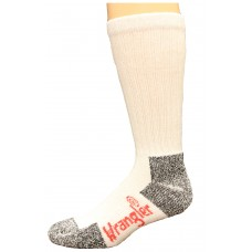 Riggs by Wrangler Steel Toe Boot Sock 2 Pack, White, M 8.5-10.5
