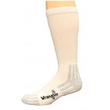 Wrangler Cotton Crew Sock 3 Pack, White, M 8.5-10.5