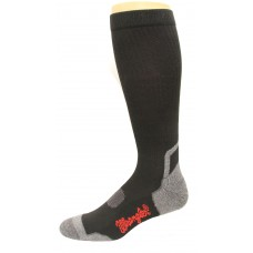 Wrangler Men's Compression Technology Tall Boot Sock 1 Pair, Black, M 8.5-10.5