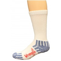 Wrangler Men's Ultra-Dri Medium Weight Work Sock 4 Pair, White, W 10-12 / M 8.5-10.5