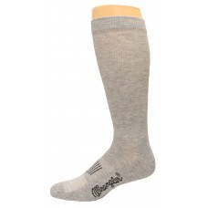 Wrangler Men's Western Boot Sock 1 Pair, Grey, M 11-13