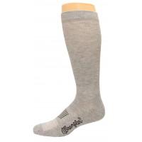 Wrangler Men's Western Boot Sock 1 Pair, Grey, W 7.5-9 / M 6-8